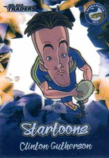 2019 NRL Traders Startoons ST11 Clinton Gutherson Eels