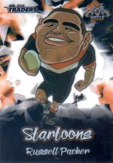 2019 NRL Traders Startoons ST18 Russell Packer Tigers