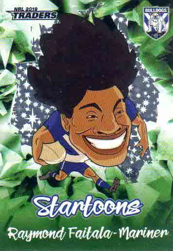 2019 NRL Traders Startoons Green SG3 Raymond Faitala-Mariner Bulldogs