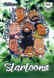 2019 NRL Traders Startoons Green SG5 Group A Header Card