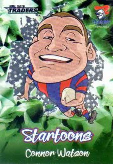 2019 NRL Traders Startoons Green SG9 Connor Watson Knights