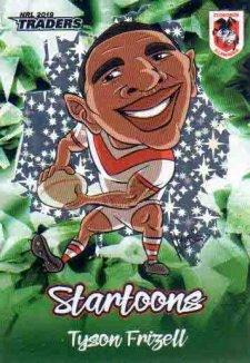 2019 NRL Traders Startoons Green SG15 Tyson Frizell Dragons