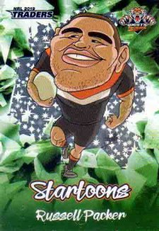 2019 NRL Traders Startoons Green SG18 Russell Packer Tigers