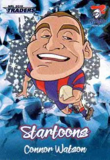2019 NRL Traders Startoons Blue SB9 Connor Watson Knights