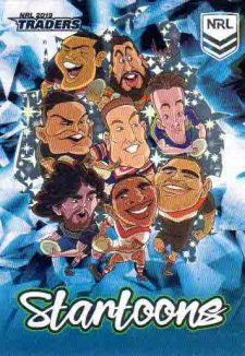 2019 NRL Traders Startoons Blue SB14 Group B Header Card