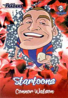 2019 NRL Traders Startoons Red SR9 Connor Watson Knights