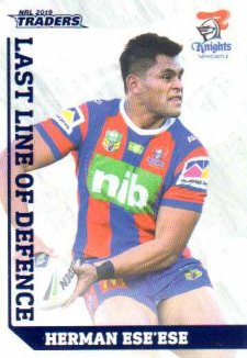 2019 NRL Traders Last Line of Defence LD15 Herman Ese'ese Knights