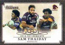 2019 NRL Traders Retirements R1 Sam Thaiday Broncos