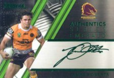 2019 NRL Traders Authentic Emerald ASE1 James Roberts Broncos
