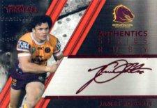 2019 NRL Traders Authentics Ruby Album Card ASR1 James Roberts Broncos