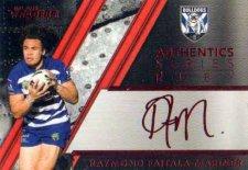 2019 NRL Traders Authentics Ruby Album Card ASR3 Raymond Faitala-Mariner Bulldogs