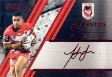 2019 NRL Traders Authentics Ruby Album Card ASR13 Tim Lafai Dragons