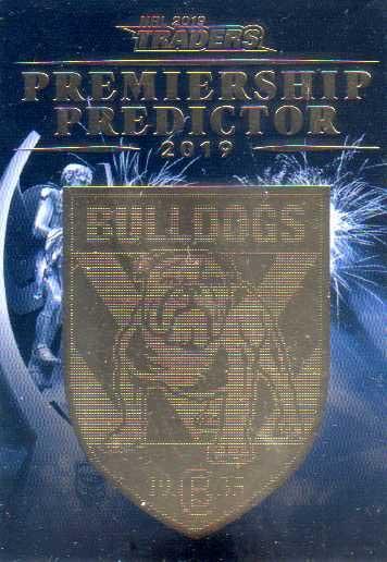 2019 NRL Traders Premiership Predictor PP3 Bulldogs