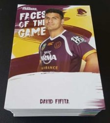 2019 NRL Traders Faces of the Game Complete 64-Card Insert Set