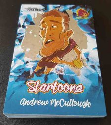 2019 NRL Traders Startoons Blue Complete 18-Card Insert Set
