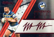 2019 NRL Traders Authentics Ruby Album Card ASR10 Manu Ma'u Eels