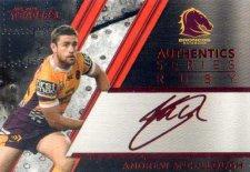 2019 NRL Traders Authentics Ruby Album Card ASR17 Andrew McCullough Broncos