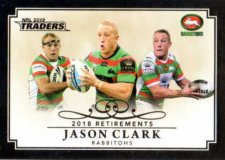 2019 NRL Traders Retirements R12 Jason Clark Rabbitohs