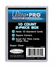 Ultra Pro 2 Piece 10-Count Card Storage Box