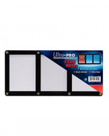 Ultra Pro 3-Card Screwdown Black Frame