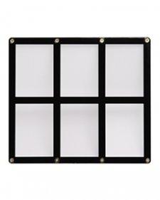 Ultra Pro 6-Card Screwdown Black Frame