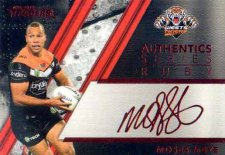 2019 NRL Traders Authentics Ruby Album Card ASR16 Moses Mbye Tigers