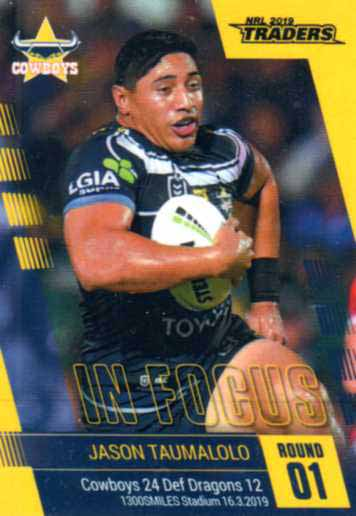 2019 NRL Traders Player in Focus Round 1 IF1 Jason Taumalolo Cowboys