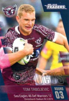 2019 NRL Traders Player in Focus Round 3 IF3 Tom Trbojevic Sea Eagles