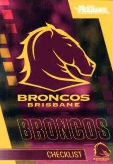 2019 NRL Traders 10-Card Base Team Set Brisbane Broncos