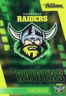 2019 NRL Traders 10-Card Base Team Set Canberra Raiders