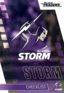 2019 NRL Traders 10-Card Base Team Set Melbourne Storm