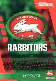2019 NRL Traders 10-Card Base Team Set South Sydney Rabbitohs