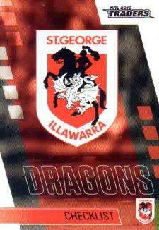 2019 NRL Traders 10-Card Base Team Set St George Dragons