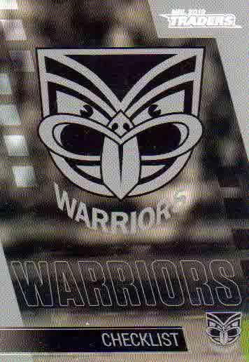 2019 NRL Traders 10-Card Base Team Set New Zealand Warriors