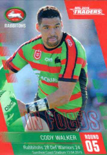 2019 NRL Traders Player in Focus Round 5 IF5 Cody Walker Rabbitohs
