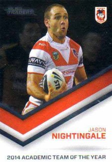 2015 NRL Traders Season to Remember STR42 Jason Nightingale Dragons