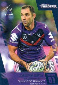 2019 NRL Traders Player in Focus Round 7 IF7 Cameron Smith Storm #/73