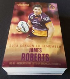 2019 NRL Traders Season to Remember Complete 48-Card Insert Set