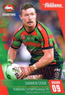 2019 NRL Traders Player in Focus Round 9 IF9 Damien Cook Rabbitohs #/85