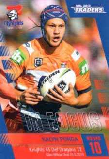 2019 NRL Traders Player in Focus Round 9 IF10 Kalyn Ponga Knights #/96