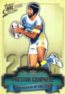 2009 NRL Classic Club Player of the Year CP5 Preston Campbell Titans