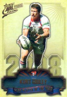2009 NRL Classic Club Player of the Year CP8 Kurt Gidley Knights