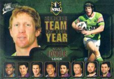 2009 NRL Classic Team of the Year TY6 Alan Tongue Raiders