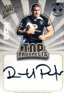 2009 NRL Classic Top Prospects Signature TP15 Russell Packer Warriors