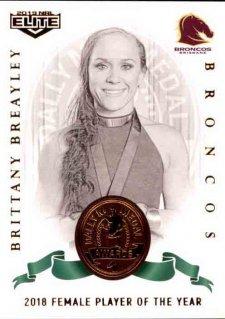 2019 NRL Elite Dally M Awards DM15 Brittany Breayley Broncos