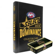 2019 Select AFL Dominance Trading Card Box and Album Combo
