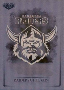 2019 NRL Elite Special Silver Parallel SS10 Raiders Checklist