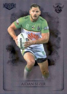 2019 NRL Elite Special Silver Parallel SS17 Aiden Sezer Raiders