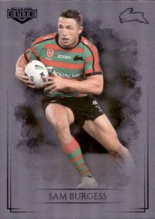 2019 NRL Elite Special Silver Parallel SS101 Sam Burgess Rabbitohs