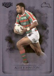 2019 NRL Elite Special Silver Parallel SS105 Alex Johnston Rabbitohs